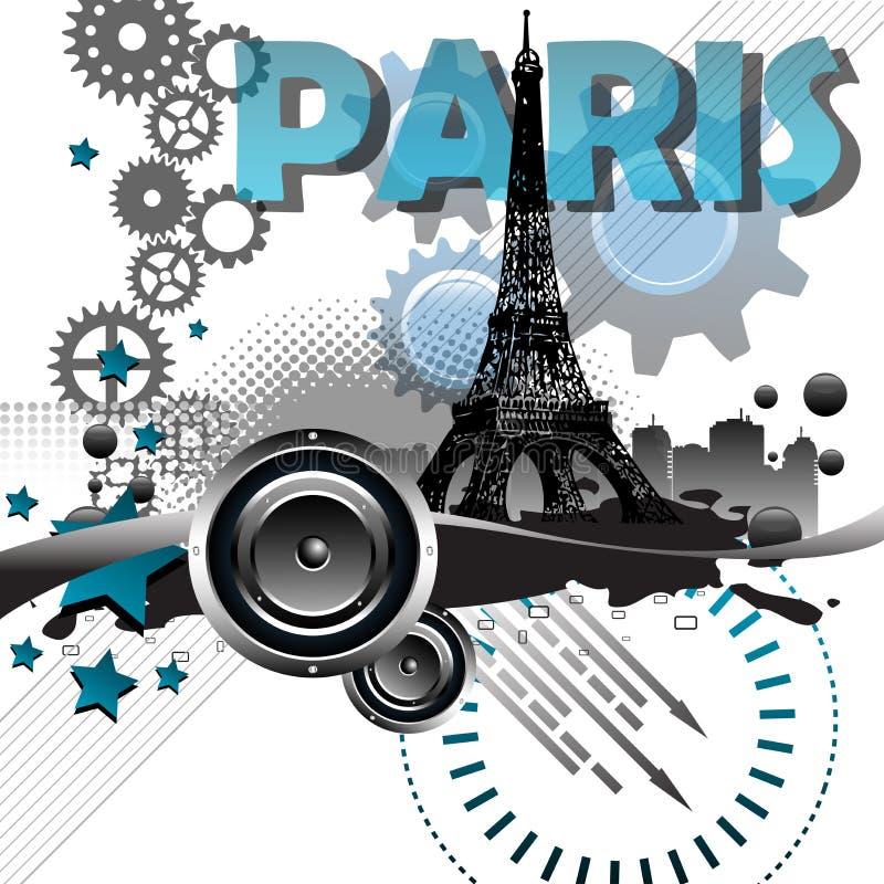 paris abstrakcjonistyczna pocztówka ilustracja wektor