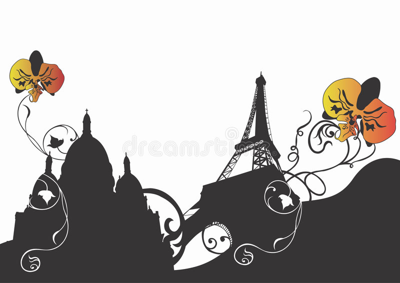 Paris abstrakcyjne royalty ilustracja