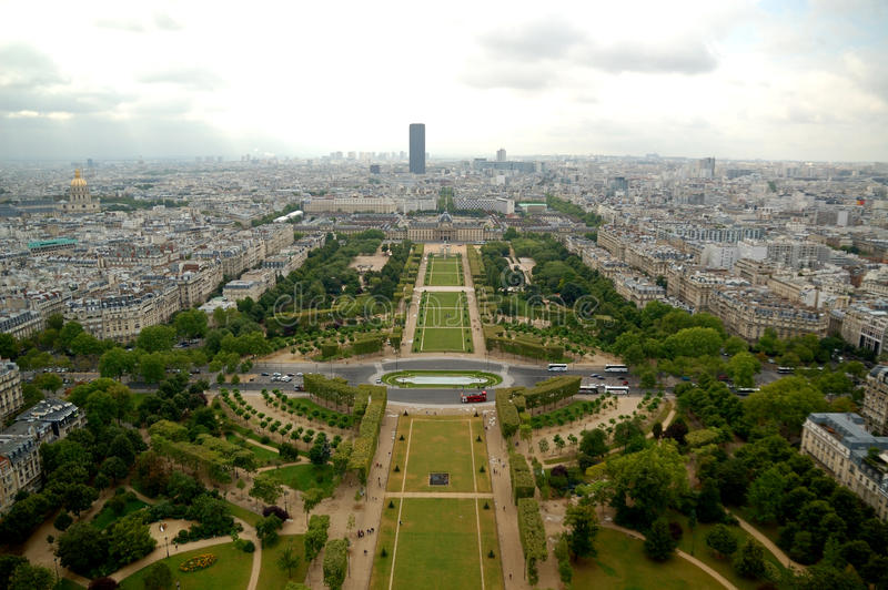 Download Paris aerial panorama stock image. Image of area, mars - 33451515