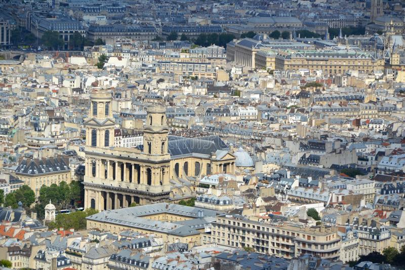 Paris Aerial View Royalty Free Stock Photos