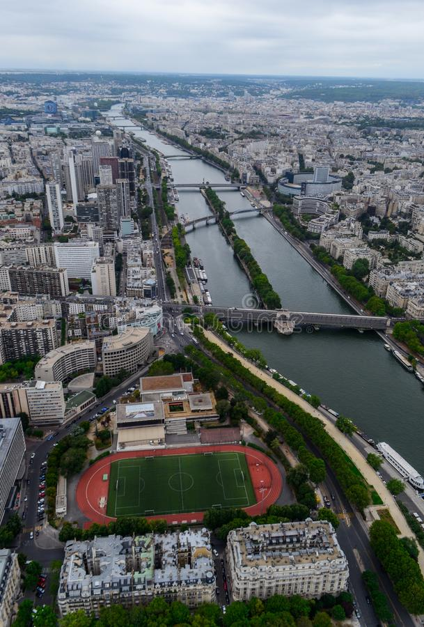 Paris aerial view stock photos
