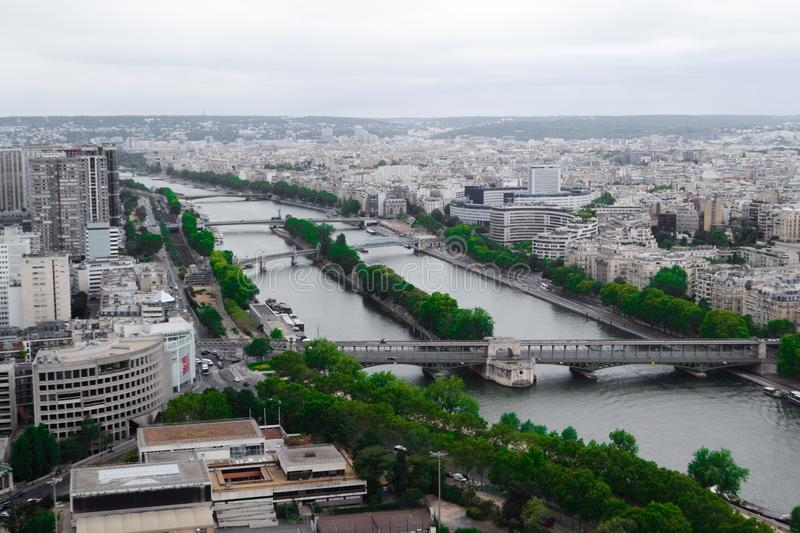 Paris aerial view royalty free stock photography