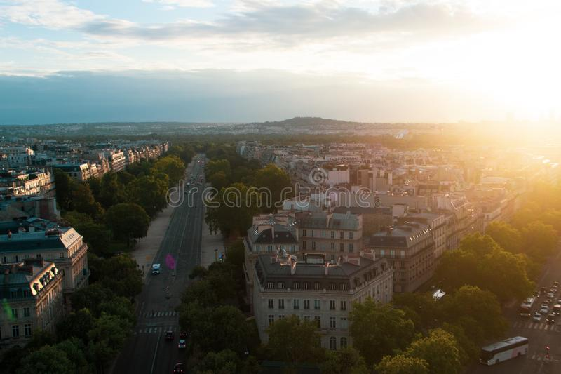 Paris aerial view royalty free stock images
