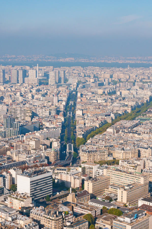 Download Paris Aerial View From Montparnasse Tower Stock Photo - Image: 19122710