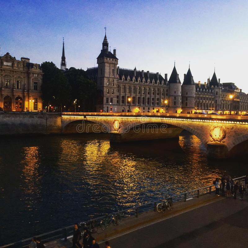 Paris afternoon stock images