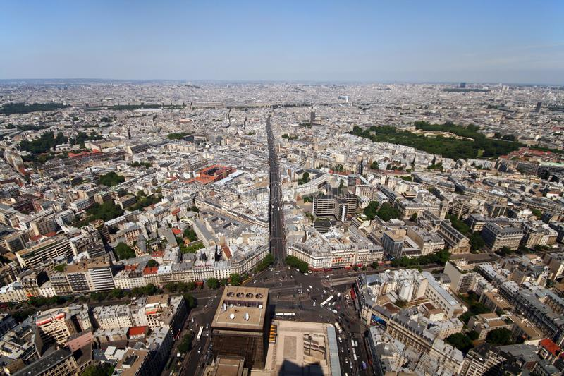 Paris-Allee lizenzfreies stockfoto