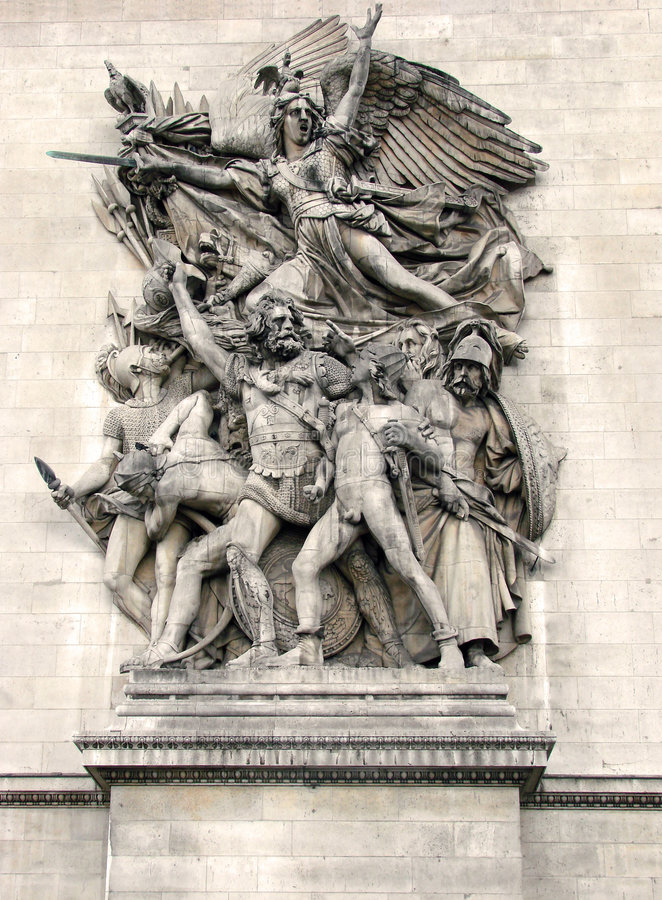 Free Paris - Arc De Triomphe [2] Royalty Free Stock Photos - 6229768