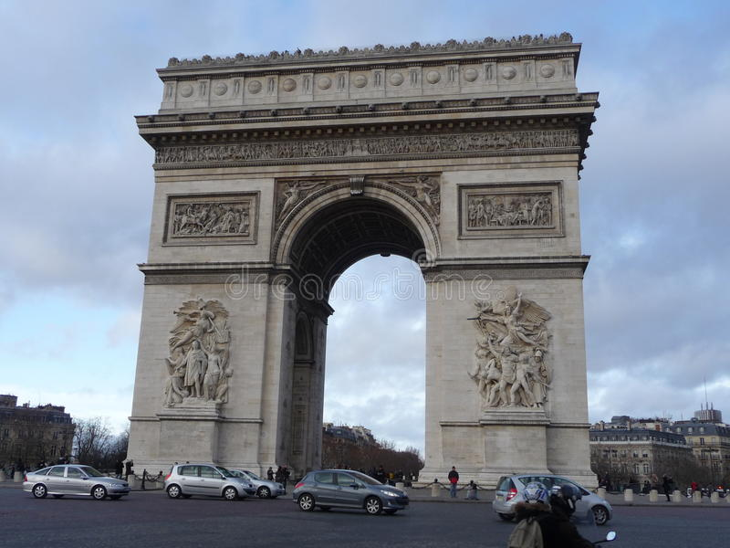 Paris - Arc de Triomphe image stock