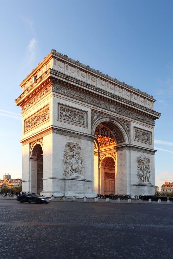 Download Paris, Arc De Triumph In Evening , France Royalty Free Stock Image - Image: 27714846