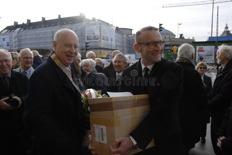 PARIS ATTACKED_ROTARY DENMARK_FRENCH AMBASSADOR. Copenhagen/Denmark/ _ 18th November 2015 _Francios Zimeray french ambassador to Denmark welomes Rotary Danmark stock image