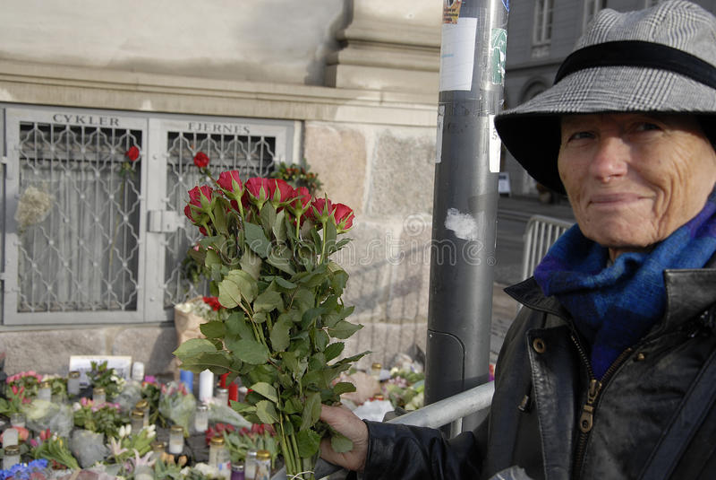PARIS ATTACKED_ROTARY DENMARK_FRENCH AMBASSADOR. Copenhagen/Denmark/ _ 18th November 2015 _Francios Zimeray french ambassador to Denmark welomes Rotary Danmark royalty free stock photos