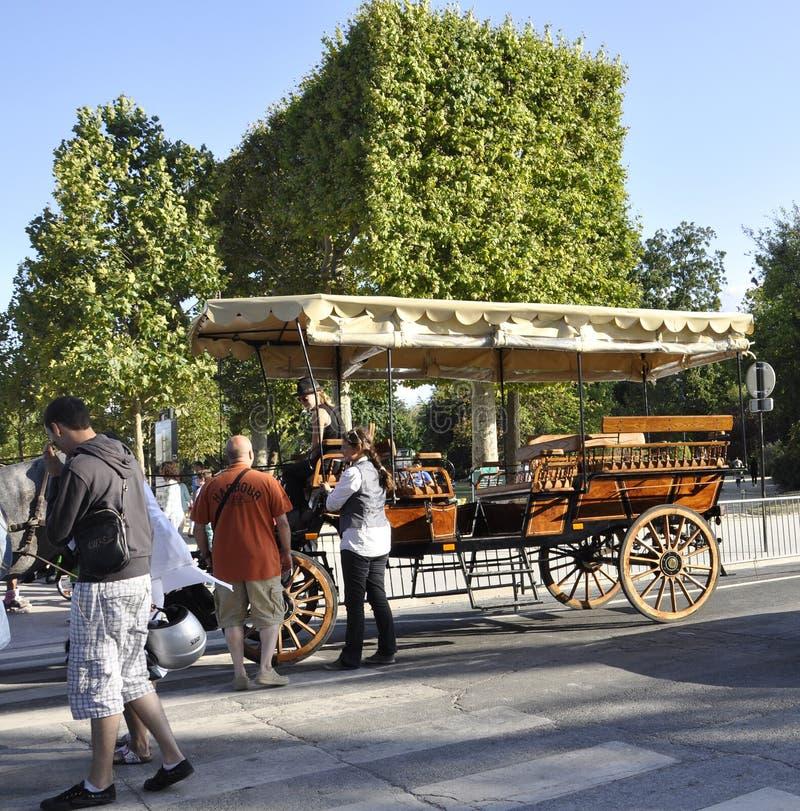 Paris,august 20-Beautiful Cart in Paris stock photos