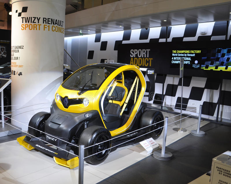 Paris,august 20-Renault Cars Showroom in Paris stock image