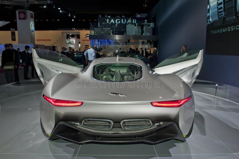 Paris Auto Show, Jaguar Electric Racing Car royalty free stock photo
