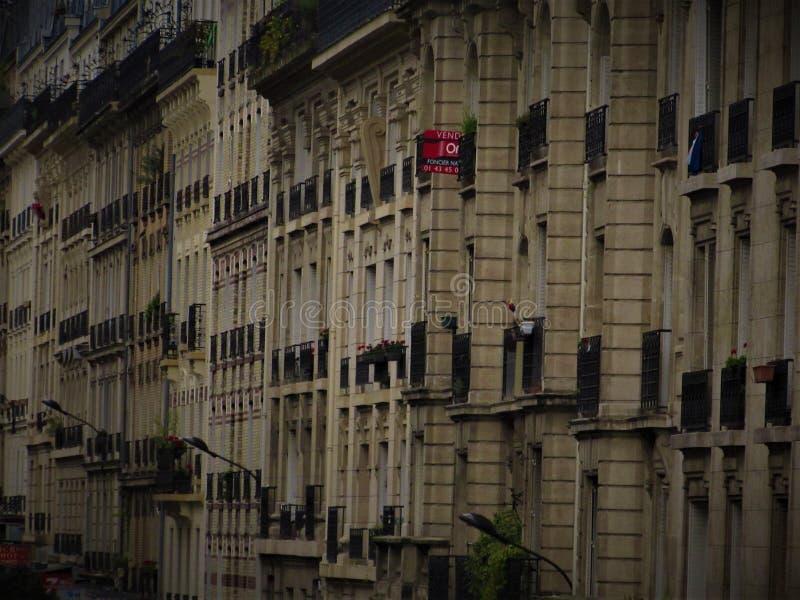 Paris Balkonies imagens de stock