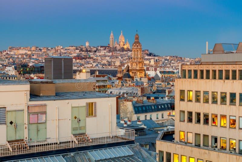 paris Basílica Sacre Coeur fotos de stock