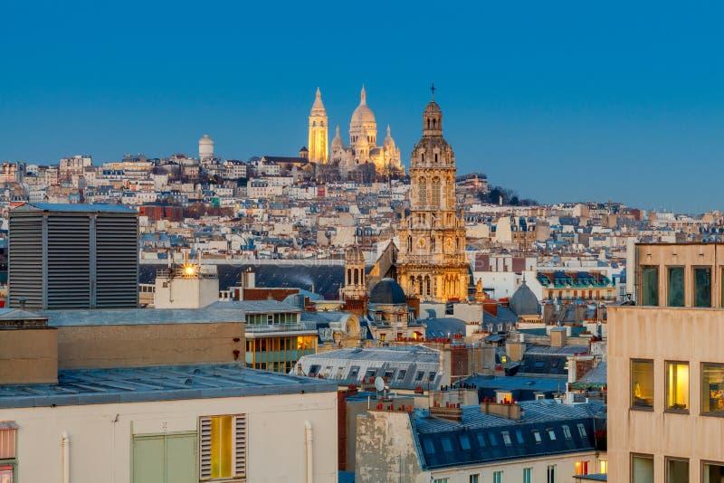 paris Basílica Sacre Coeur imagens de stock royalty free
