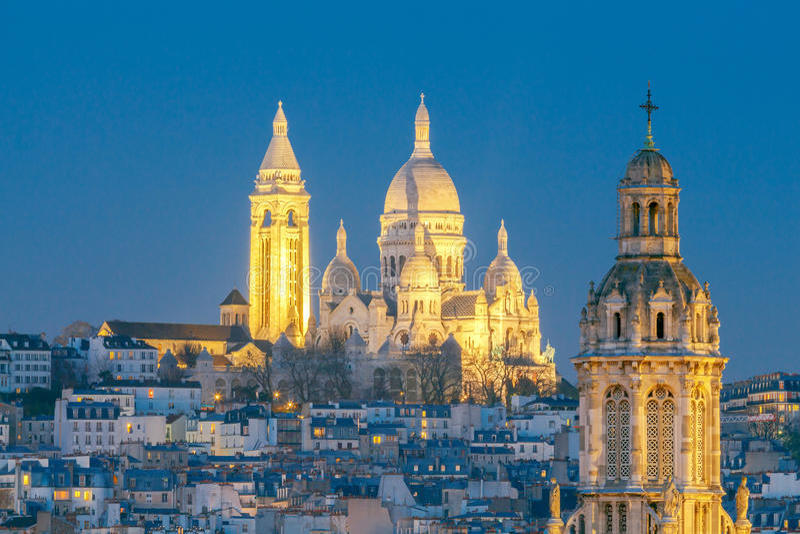 paris Basílica Sacre Coeur fotografia de stock royalty free