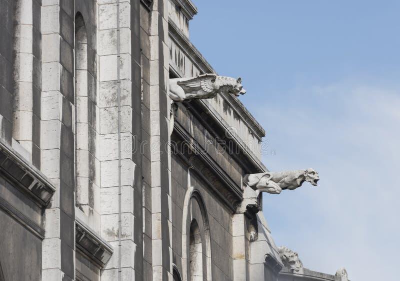 paris Bazylika Sacre Coeur w Montmartre Kończyć szczegóły obraz royalty free