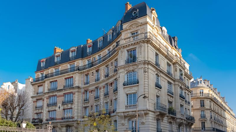 Paris, luxury buildings stock photo