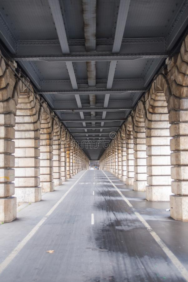 Paris, bercy Brücke stockfoto