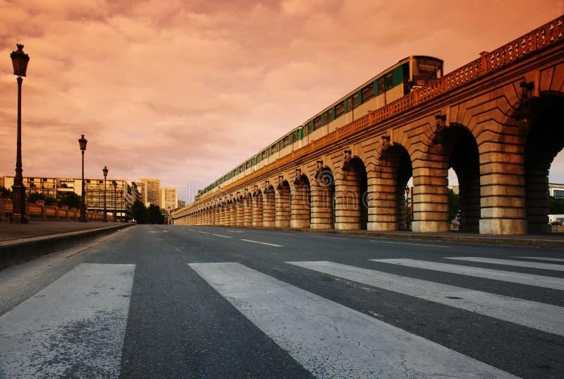 Paris bercy Brücke stockbilder