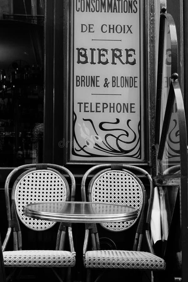 Paris, biere. A characteristic bar in Paris stock image