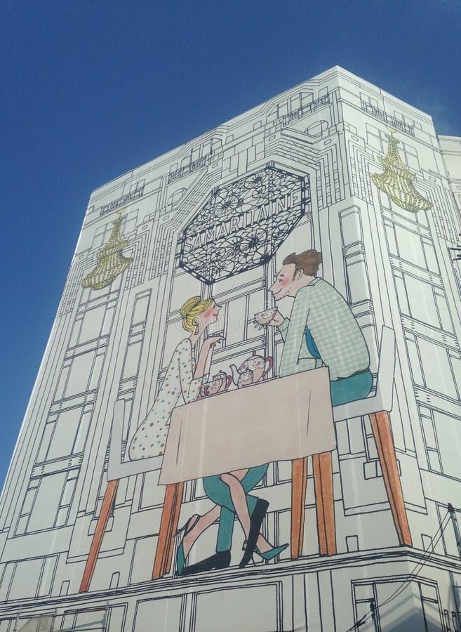 Paris byggnad royaltyfria foton