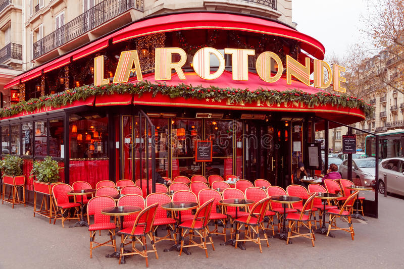 paris Caféla Rotonde lizenzfreie stockfotografie
