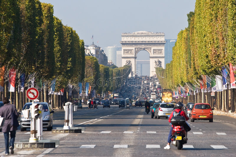 Paris. Campeões Elysees foto de stock royalty free