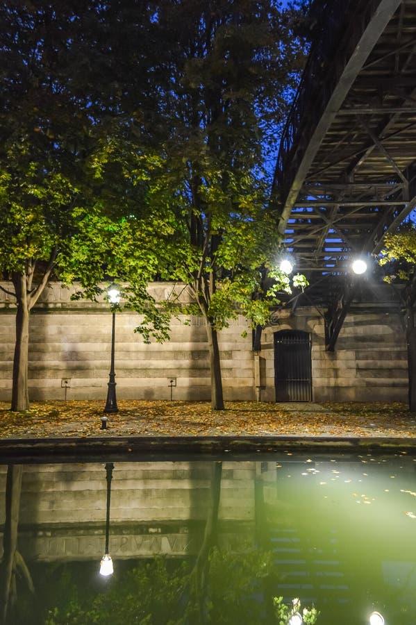 Paris Canal St Martin royalty free stock photo