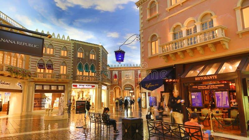 Paris Casino. Beautifully lit streets inside stock images