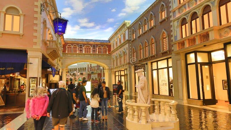 Paris Casino. Beautifully lit streets inside stock photo