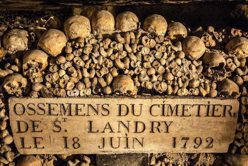 Paris Catacombes III foto de stock