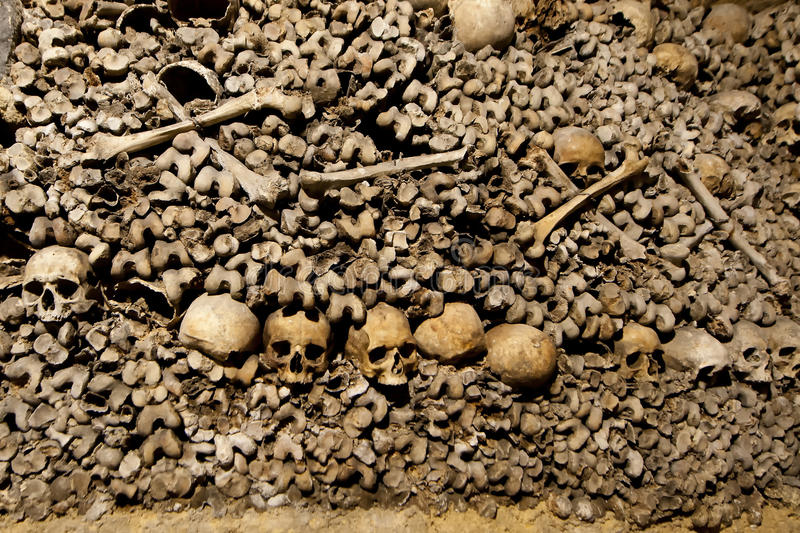 Download Paris Catacombs Skulls And Bones Stock Image - Image: 31853255