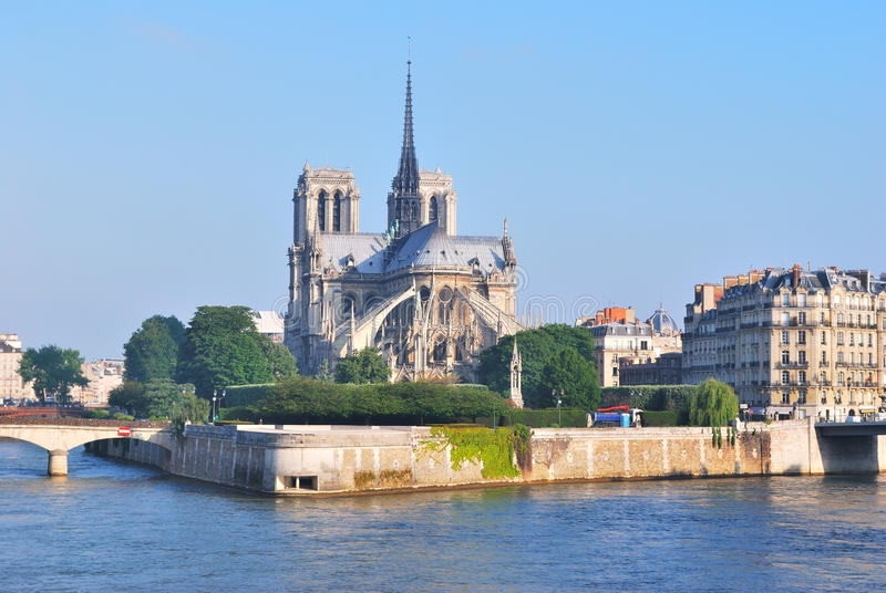 Paris. Citez l'île photo stock