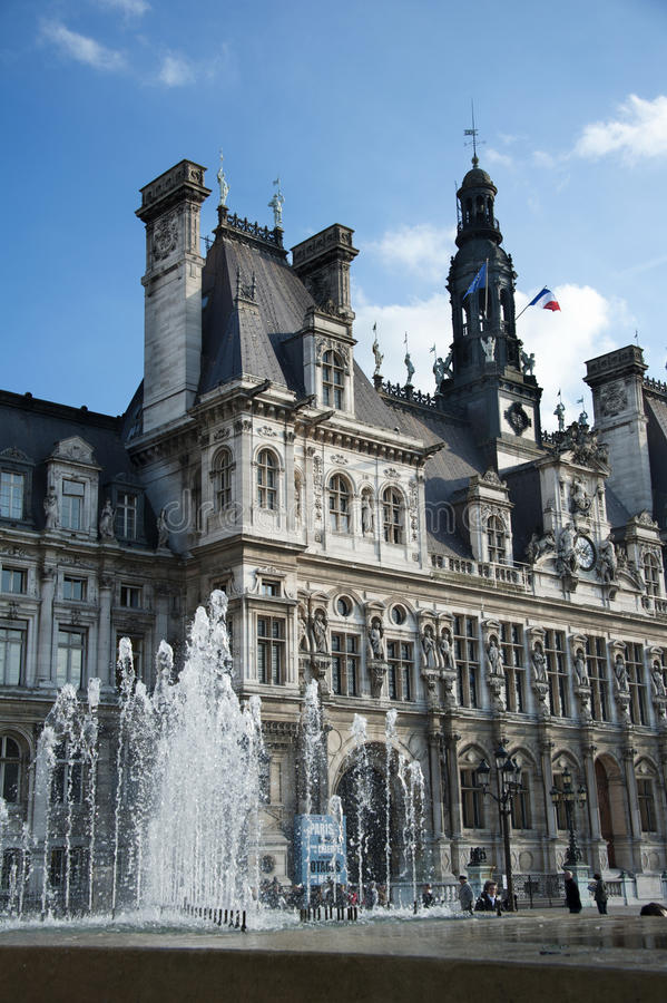 Download Paris - the city hall editorial stock photo. Image of destination - 28172973