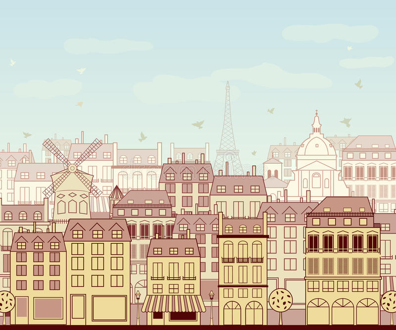 Download Paris cityscape stock vector. Illustration of built, tourist - 27161766