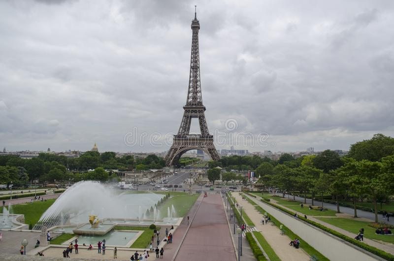 Paris cityscape with Eiffel tower stock image