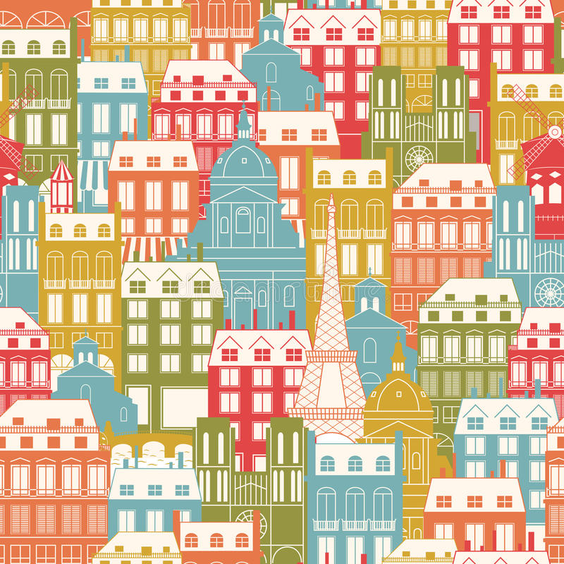 Download Paris Cityscape pattern stock vector. Image of moulin - 27093691