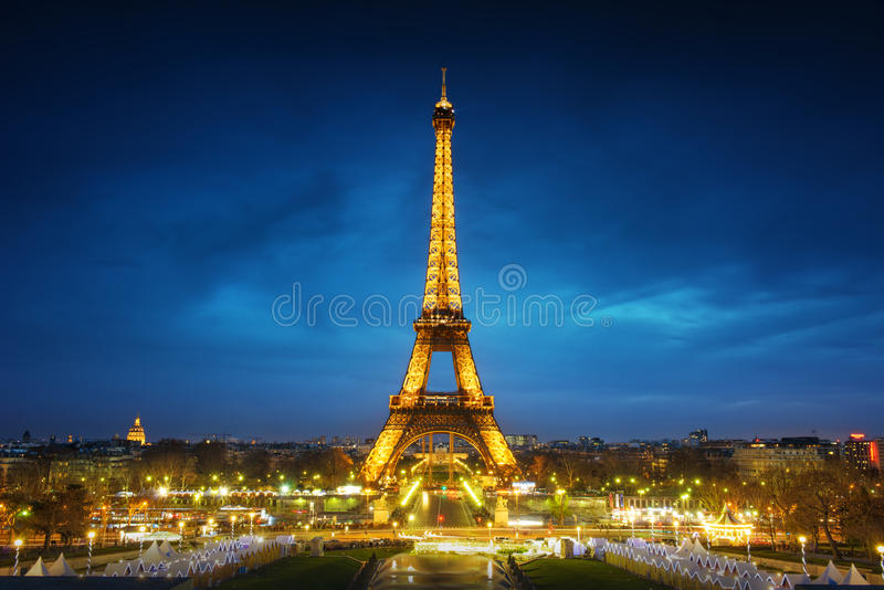 Download Paris cityscape at sunset editorial stock photo. Image of europe - 29077328