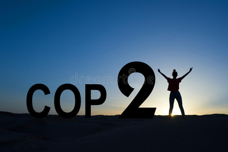 Paris climate change conference 2015. Concept royalty free stock photo
