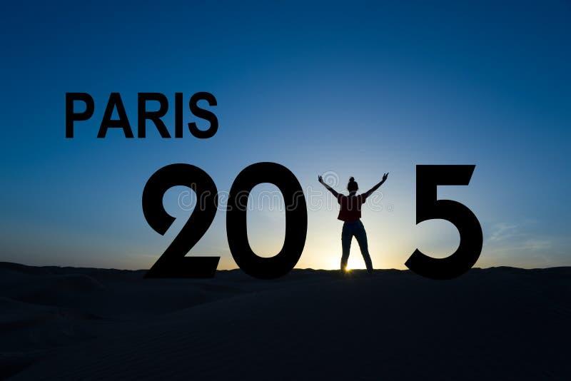 Paris climate change conference 2015. Concept stock photography