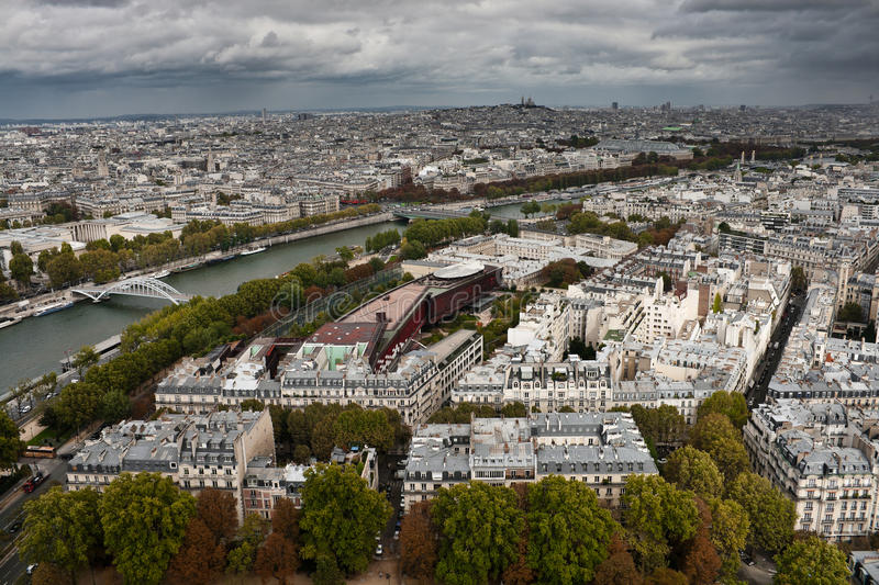 Download Paris on a cloudy day stock image. Image of architecture - 22151089