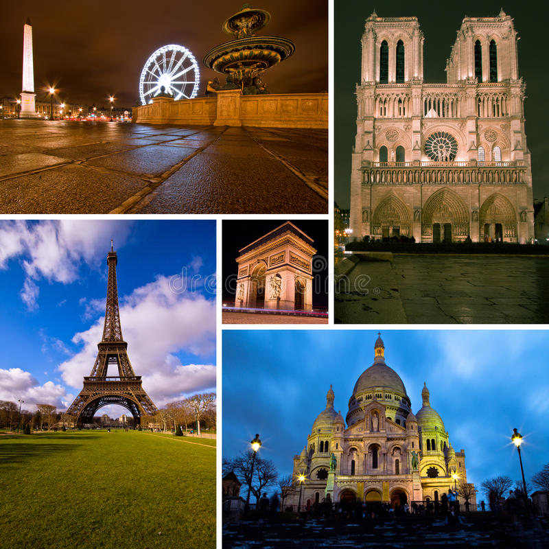 Free Paris Collage Royalty Free Stock Photography - 23899377