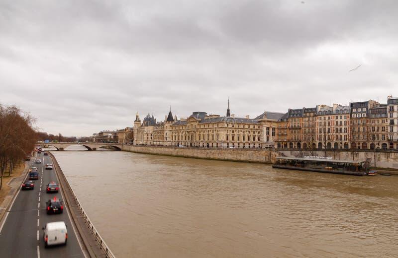 paris Conciergerie Pont Neuf foto de stock