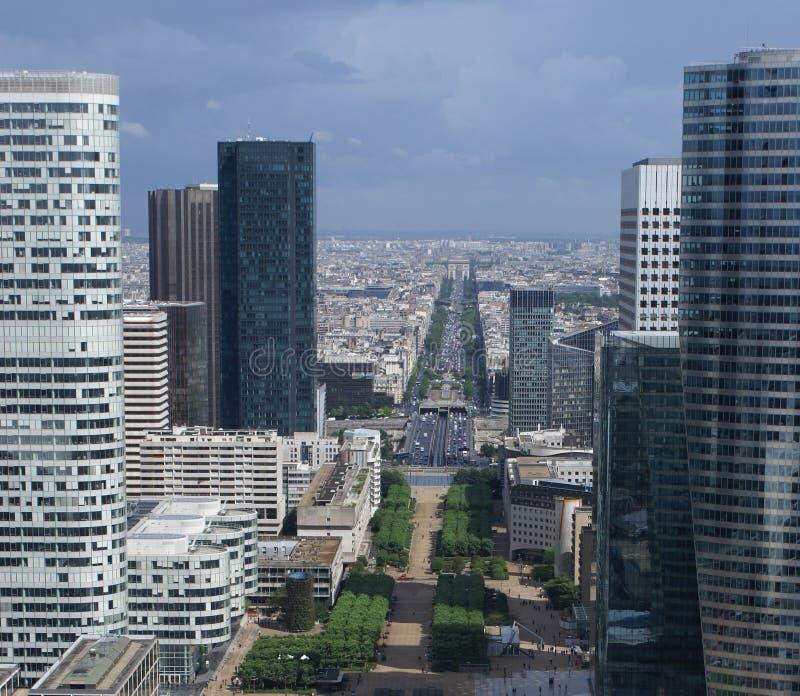 Paris d'Arche grand photographie stock