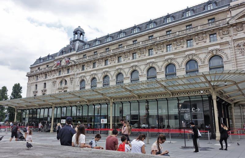 Paris das Orsay-Museum stockfotos
