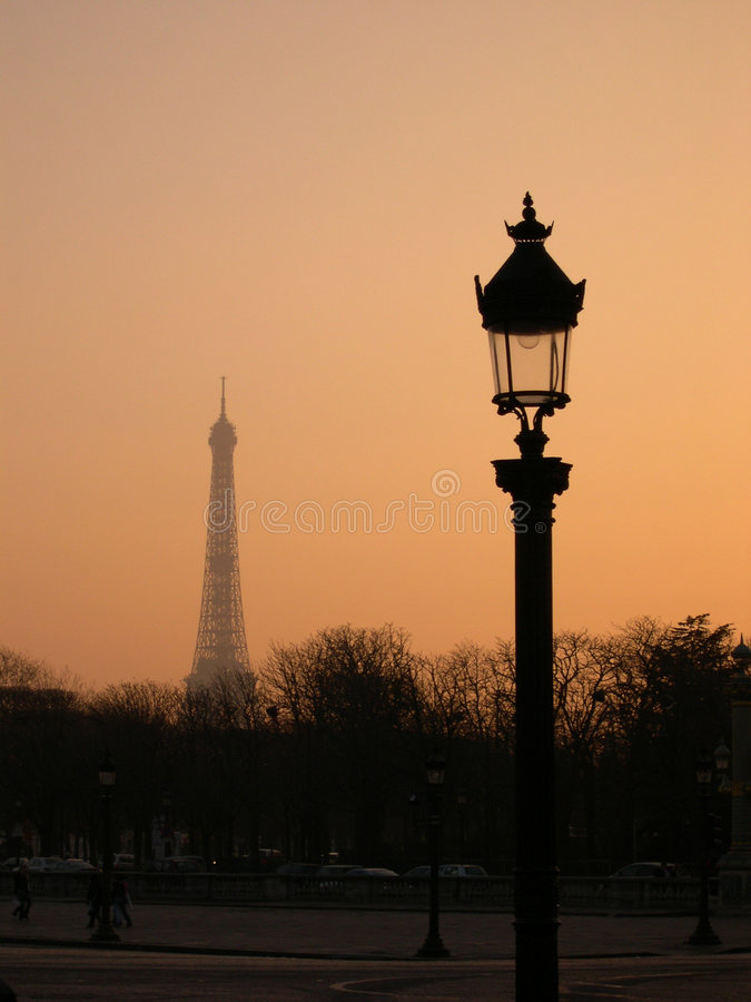 Download Paris in dawn stock photo. Image of dawn, arcitecture - 1645054