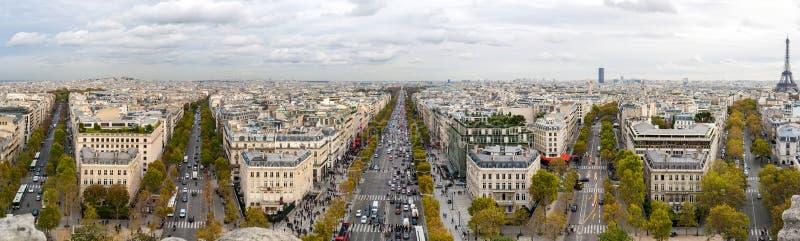 Paris de l'Arc de Triomphe photo libre de droits